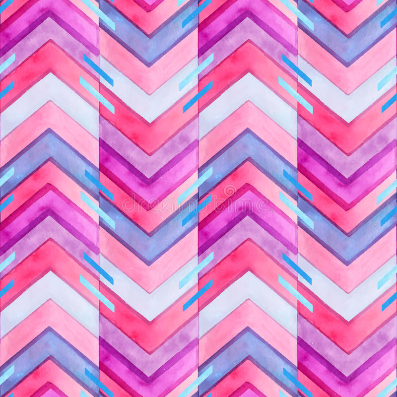 Free Navajo Aztec Textile Inspiration Watercolor Pattern. Native Amer Royalty Free Stock Photo - 53360955