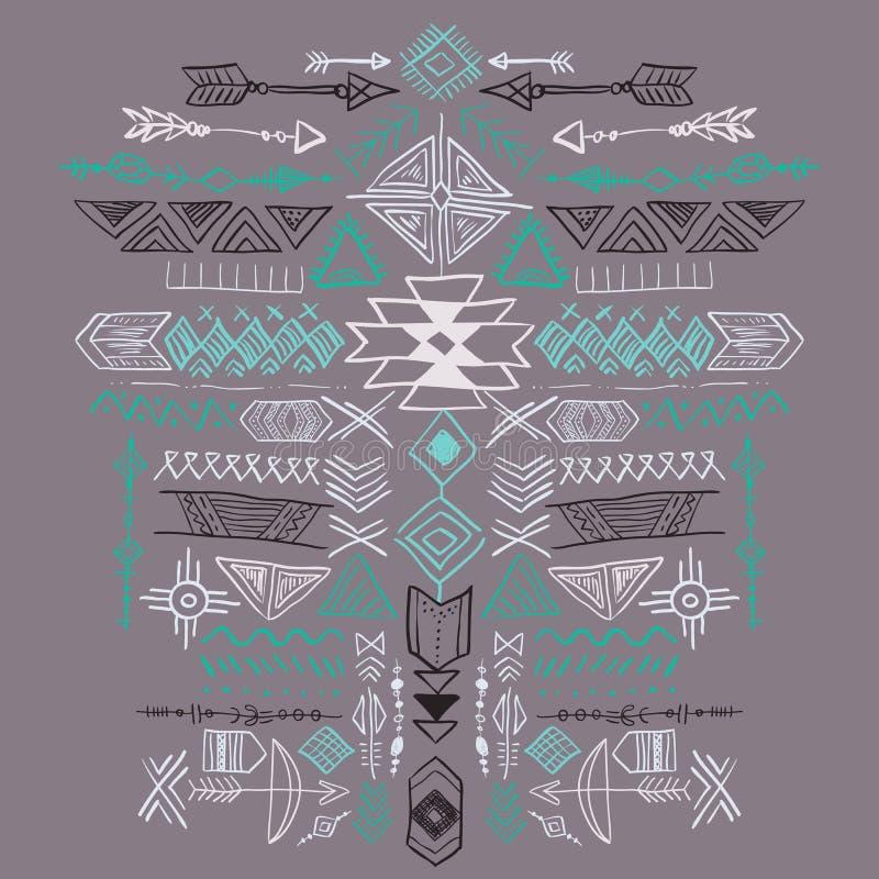 Navajo azteka Wektorowy Plemienny etniczny ornament ilustracja wektor