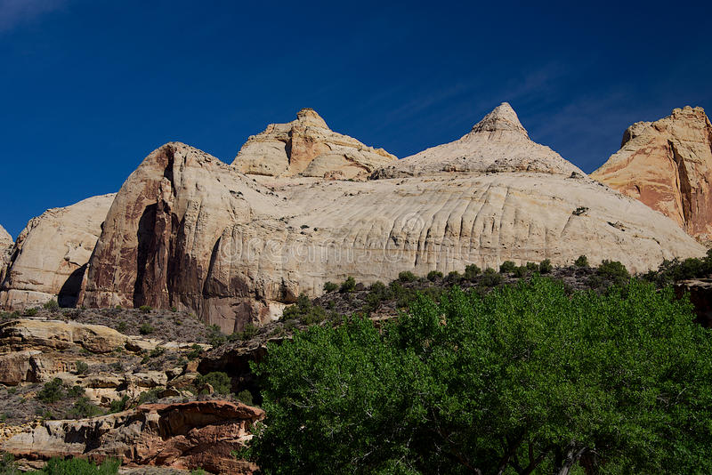 Navajo Dome. In Capitol Reef National Park, Utah stock photo