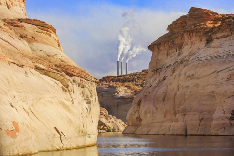 Navajo Generating Station in Page. Arizona royalty free stock photos