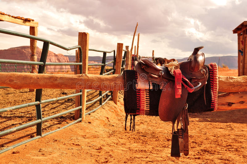 Selle navajo del cavallo immagine stock libera da diritti