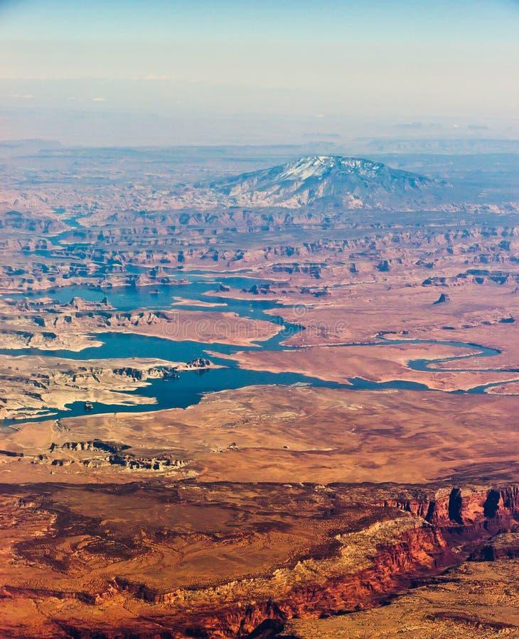 Navajo Mountain Aerial Stock Photo
