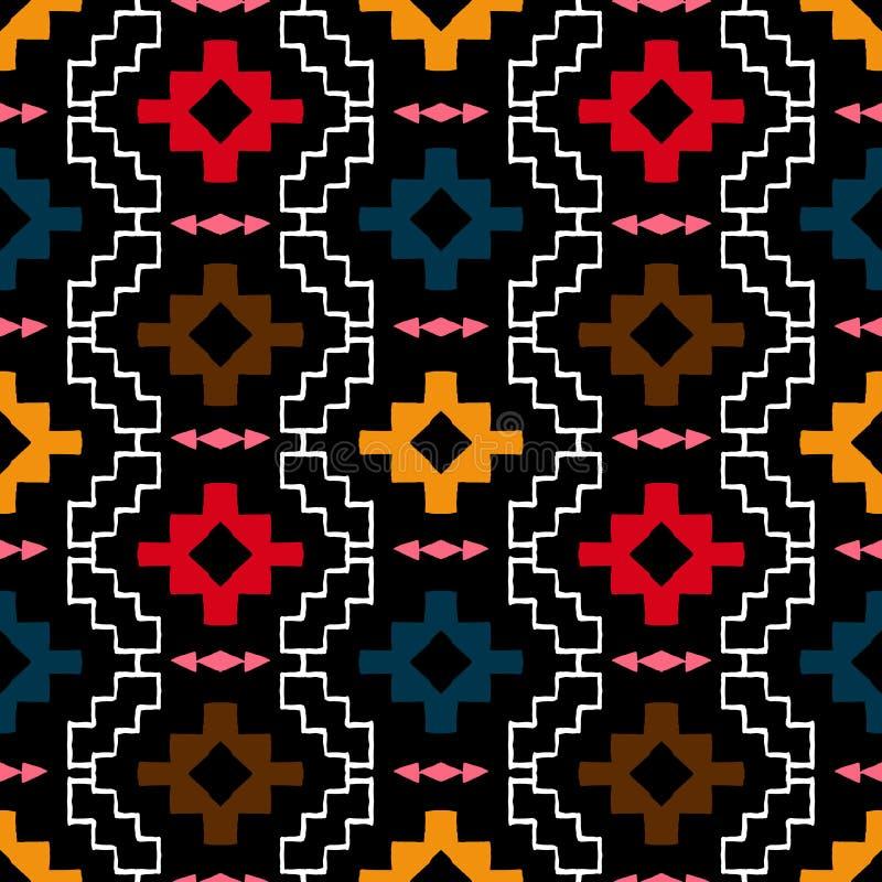 Navajo plemienny ornament royalty ilustracja