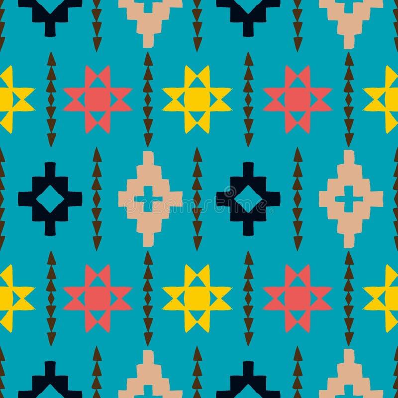 Navajo plemienny ornament ilustracji