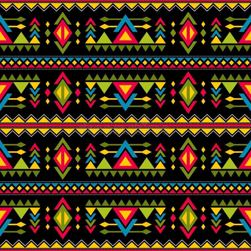 Navajo tkactwa mody wektoru bezszwowy wzór Rocznik sztuki plemienny druk etniczny afrykański niekończący się tło ilustracji