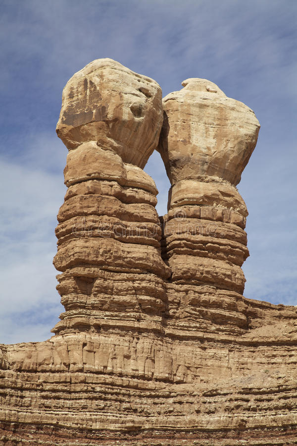 Download Navajo Twins Rock Formation Stock Image - Image: 28369377