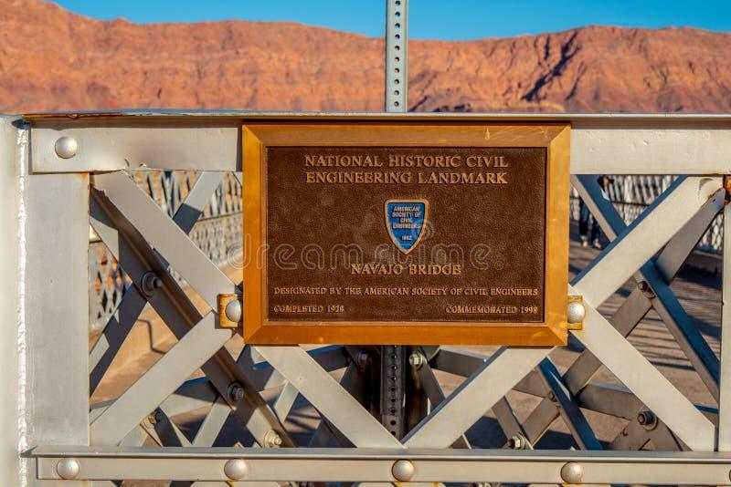 Navajobro i Utah - Utah, USA - mars 20, 2019 royaltyfri foto