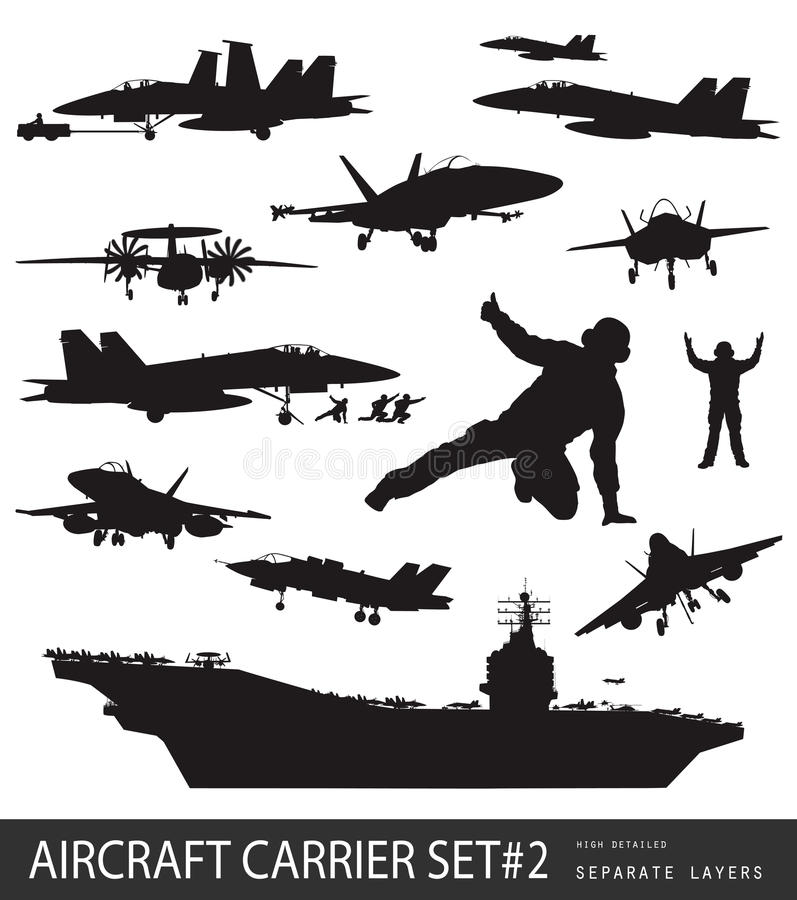 Free Naval Aviation Silhouettes Stock Images - 29064544