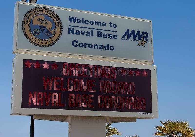 Naval Base Coronado near San Diego, California royalty free stock images