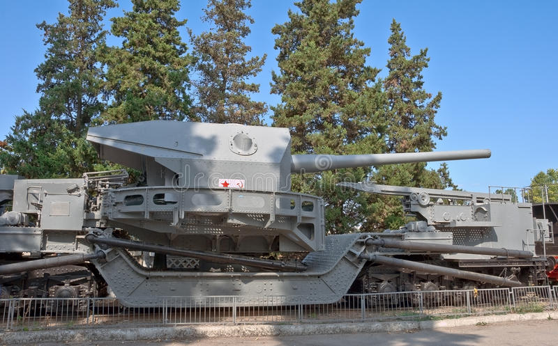 Download Naval Cannon Of WW2 On Railway. Stock Photo - Image: 16336996