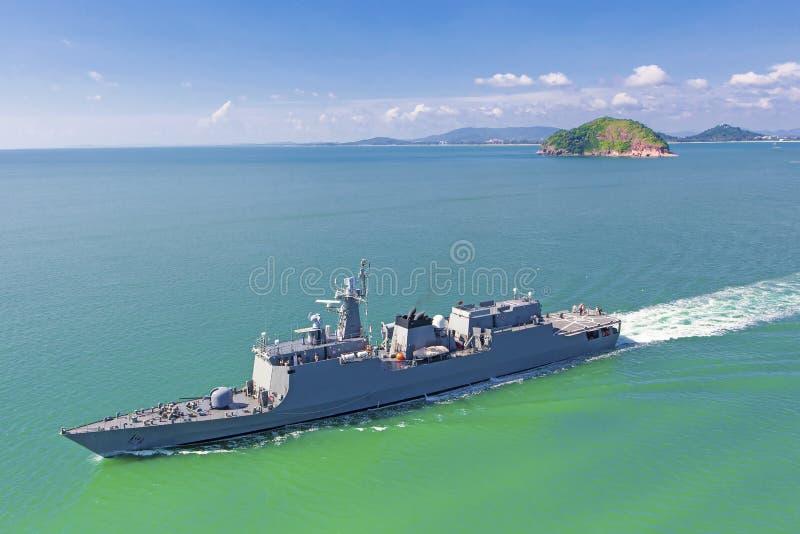 Download Naval destroyer stock photo. Image of harbor, metal, marine - 43010318