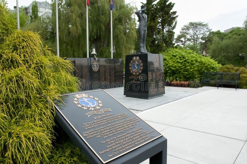 Naval Memorial Monument - Burlington - Canada. Naval Memorial Monument in Burlington - Canada stock images