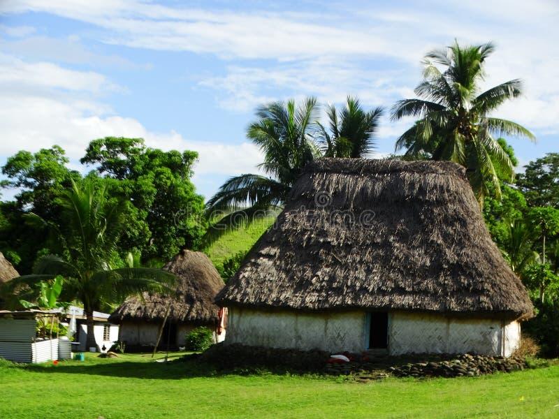 Fiji - traditional houses - bure at the Navala village royalty free stock image