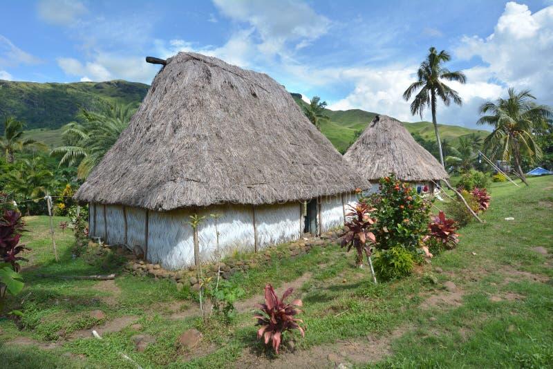 Navaladorp in de Bedelaarshooglanden Fiji royalty-vrije stock foto's