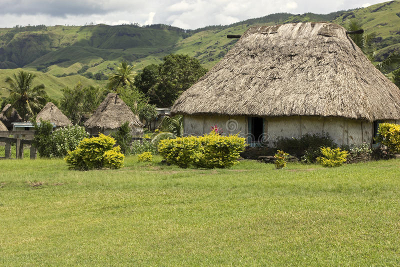 Navaladorp in Fiji royalty-vrije stock foto