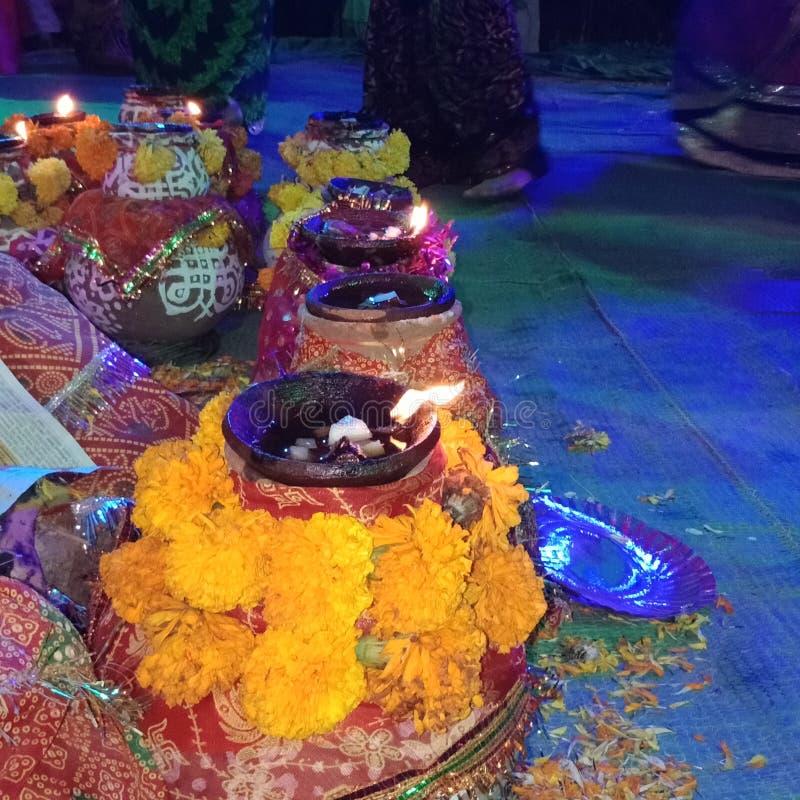 Navaratri es un festival hindú que atraviesa nueve noches y se celebra cada año en el otoño imágenes de archivo libres de regalías