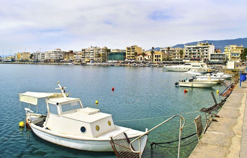 Navarinou路风景在卡拉迈伯罗奔尼撒希腊 库存照片