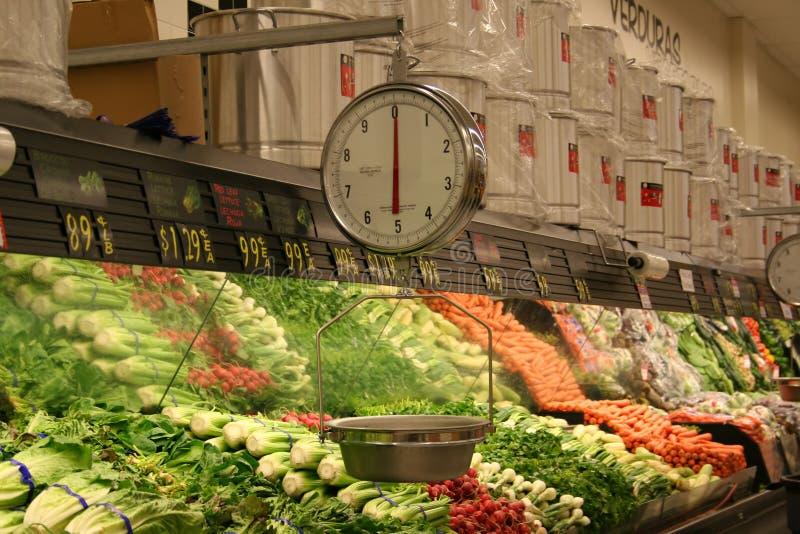 Navata laterale della verdura della drogheria fotografie stock libere da diritti