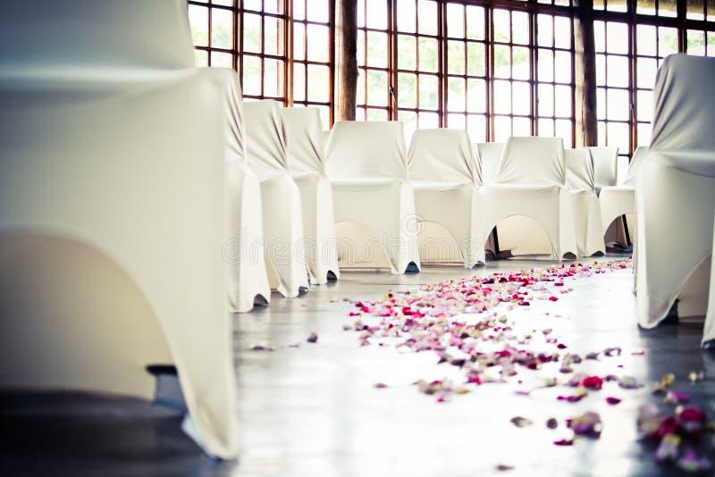 Navata laterale di nozze immagini stock libere da diritti