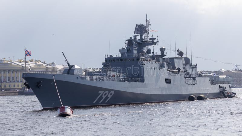 Nave - almirante Makarov de la fragata imagen de archivo
