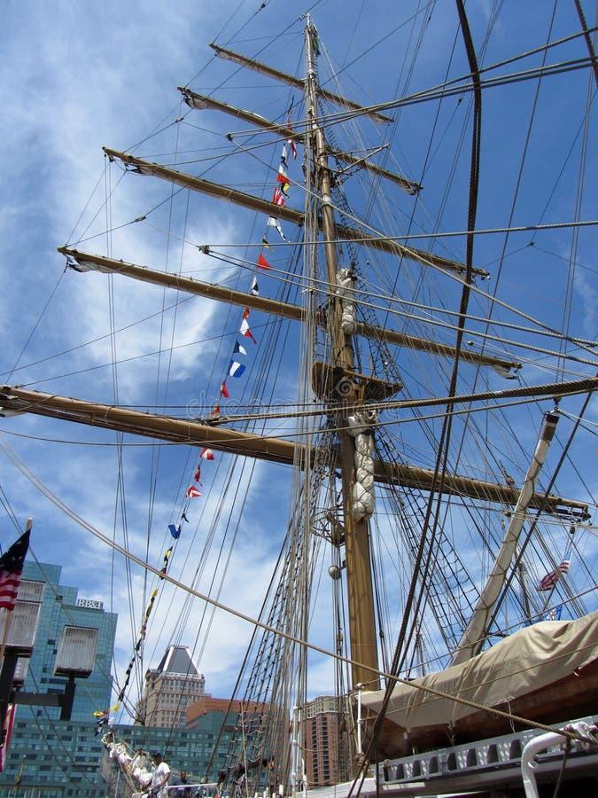 Nave alta dell'albero a Baltimora immagini stock libere da diritti