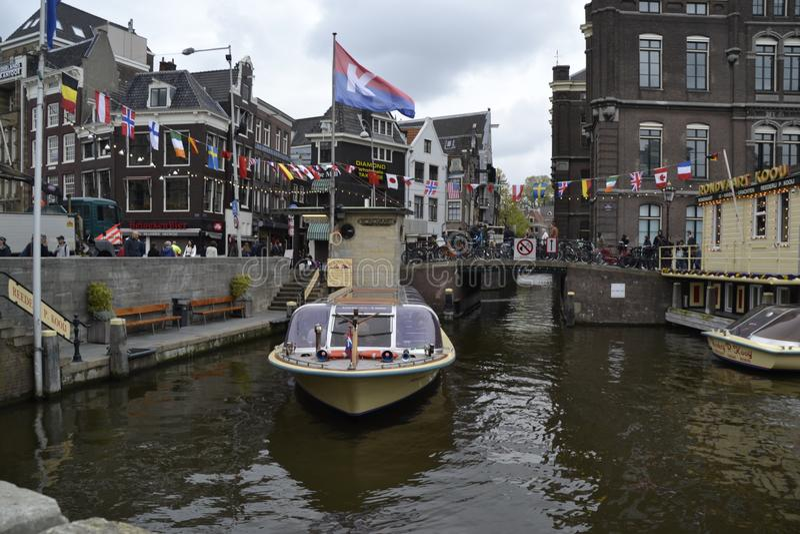 Nave a Amsterdam Niederlande immagine stock libera da diritti