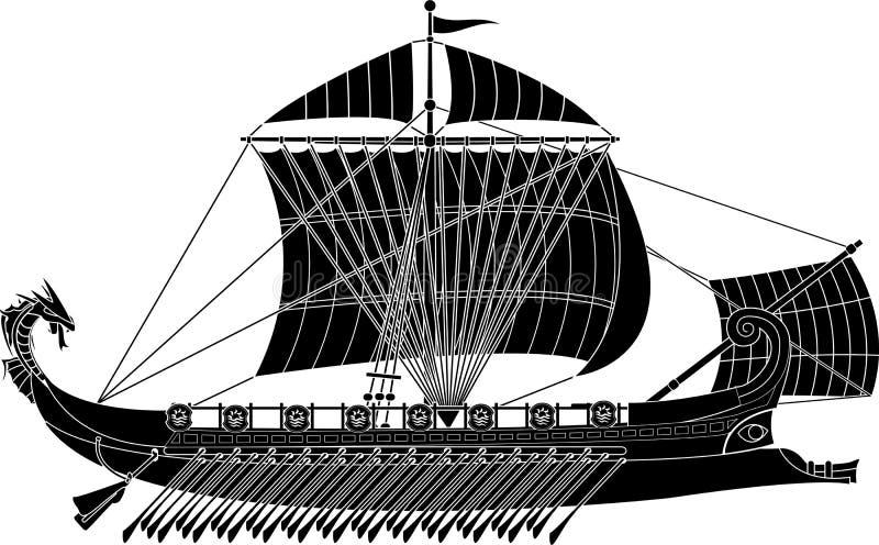 Nave antigua de la fantasía ilustración del vector