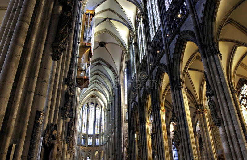 Download Nave of Cologne Cathedral stock image. Image of europe - 12994981