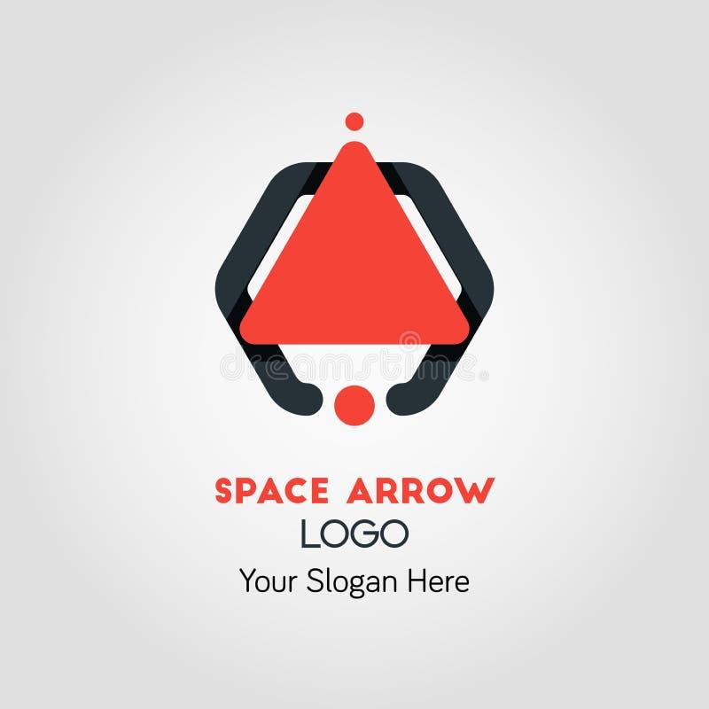 Nave-como la flecha Logo Template de la parte superior stock de ilustración