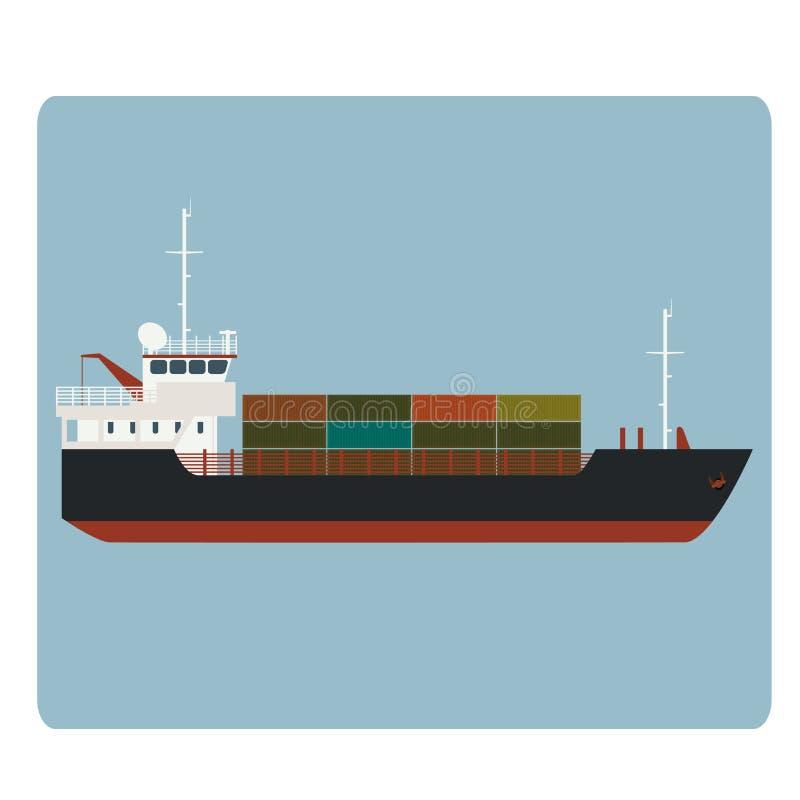 Nave da carico asciutta illustrazione di stock