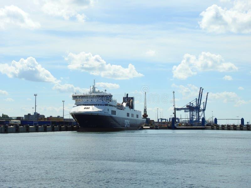 Nave da carico - rotte DFDS, Lituania di optimum immagini stock libere da diritti