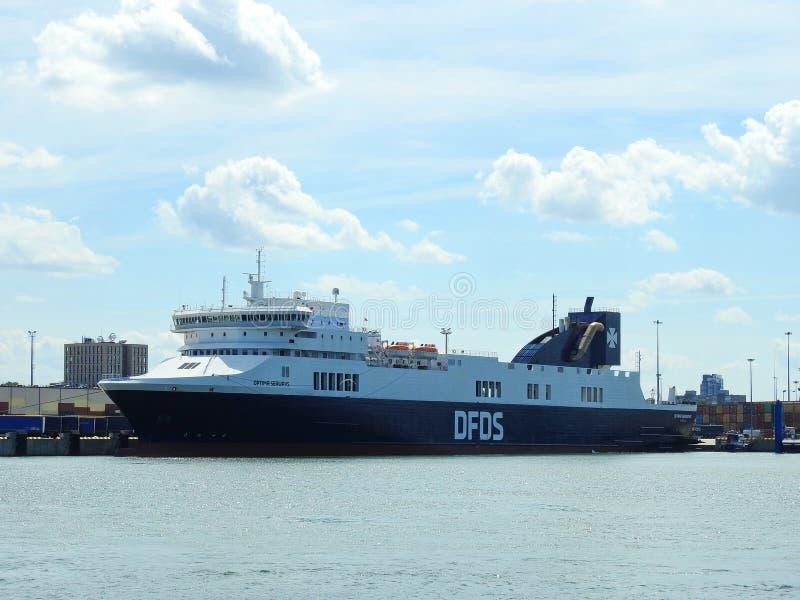 Nave da carico - rotte DFDS, Lituania di optimum fotografie stock libere da diritti