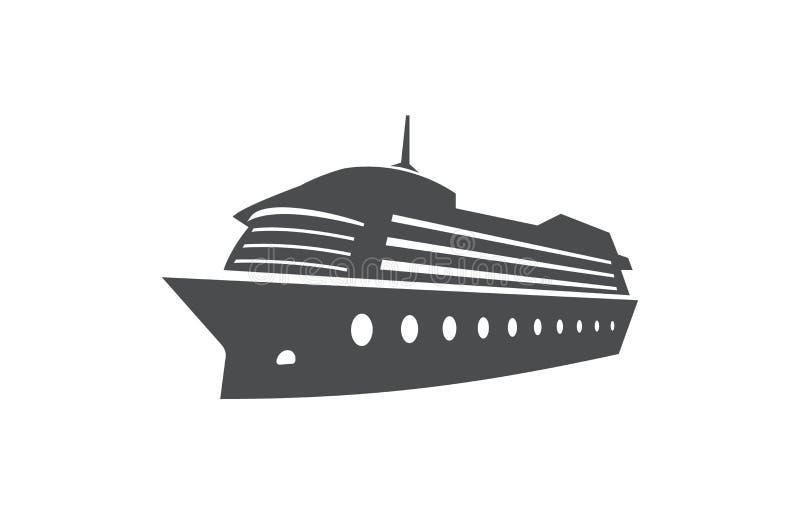 Nave da crociera, barca dell'oceano, simbolo del trasporto marittimo royalty illustrazione gratis