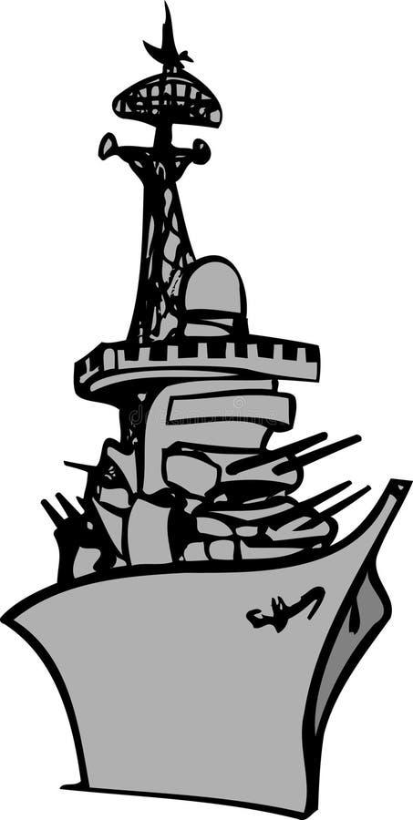 Nave da guerra illustrazione vettoriale
