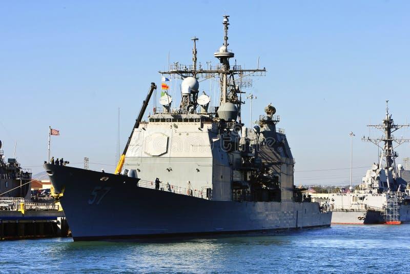 Nave de batalla de la marina de los E.E.U.U. fotos de archivo