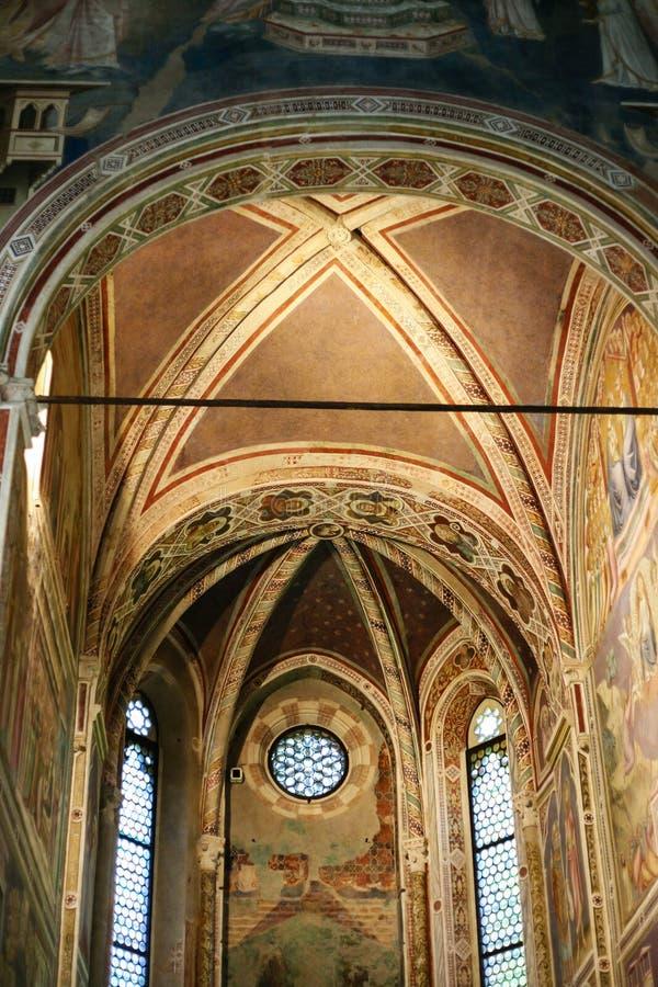 Nave de chapelle de Scrovegni dans la ville de Padoue photo libre de droits