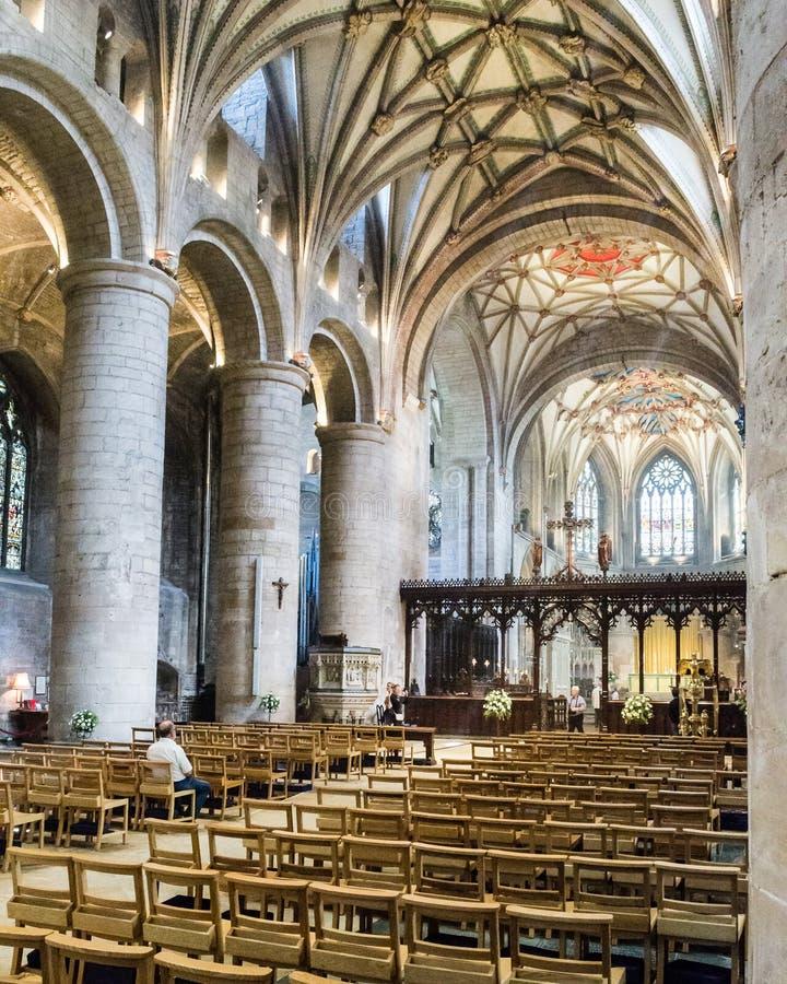 Nave de l'abbaye B de Tewkesbury photo stock