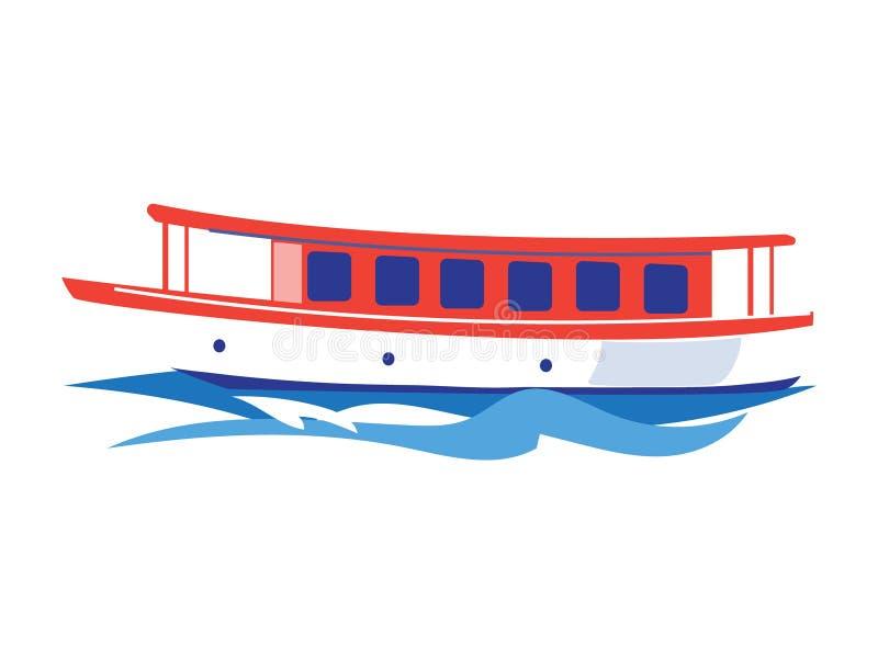 Nave de la excursión en el agua Ilustración del vector libre illustration