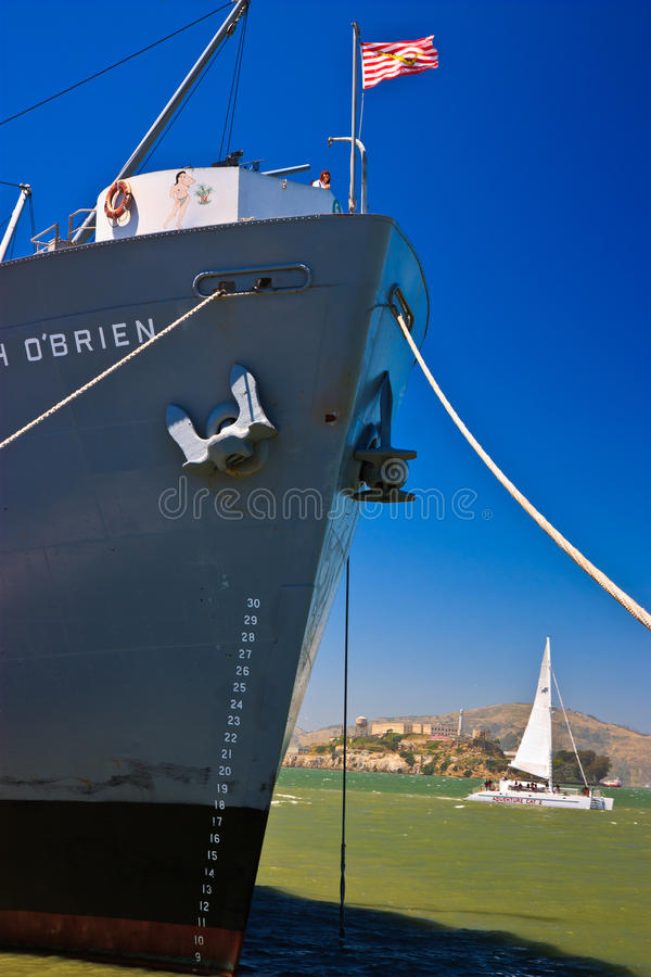 Nave de libertad de los SS Jeremiah O'Brien, San Francisco imágenes de archivo libres de regalías