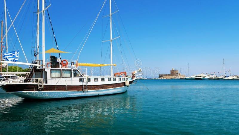 Nave de Rhodos - de Grecia foto de archivo