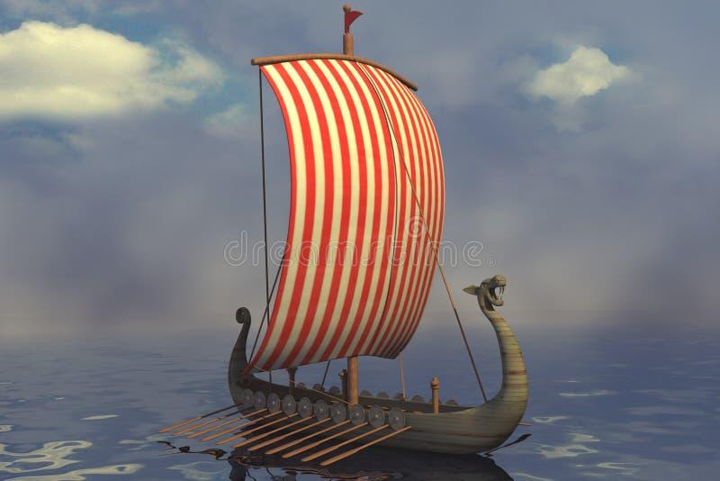 Nave de Vikingo stock de ilustración