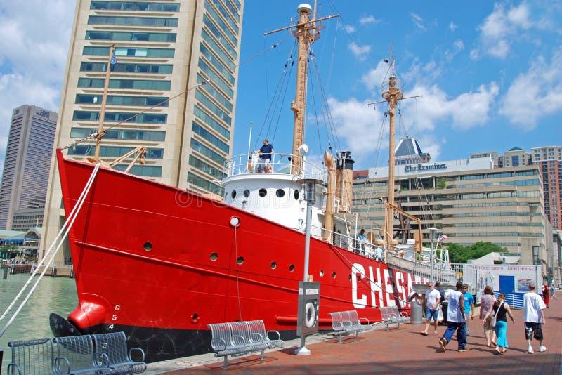 Nave del Chesapeake nel porto interno di Baltimora fotografie stock