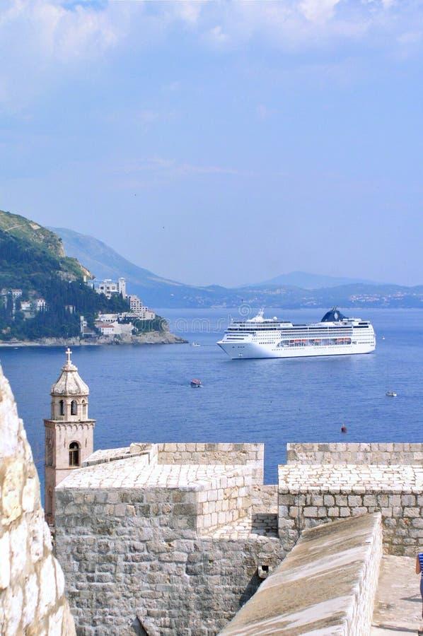 Nave del crucero de Dubrovnik foto de archivo