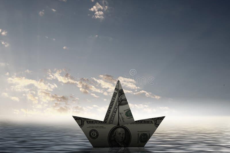 Nave del dólar foto de archivo libre de regalías