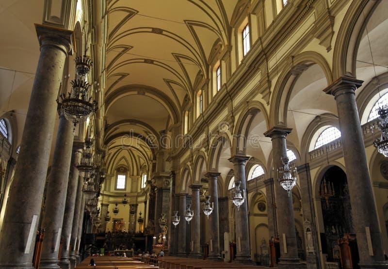Nave del main della chiesa del San Domenico immagine stock libera da diritti