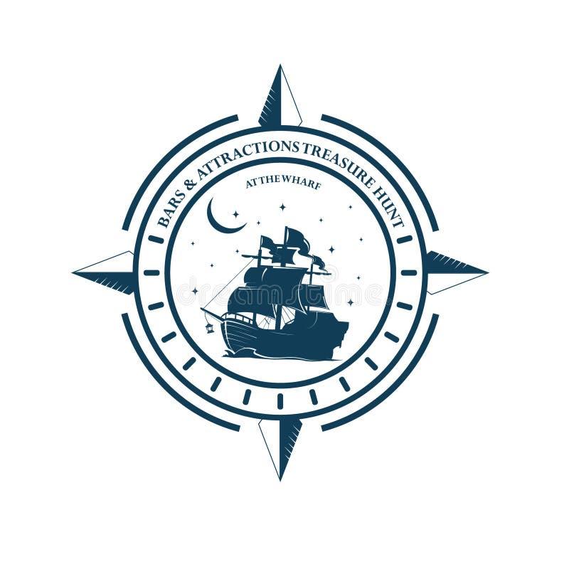 Nave del marinero ilustración del vector