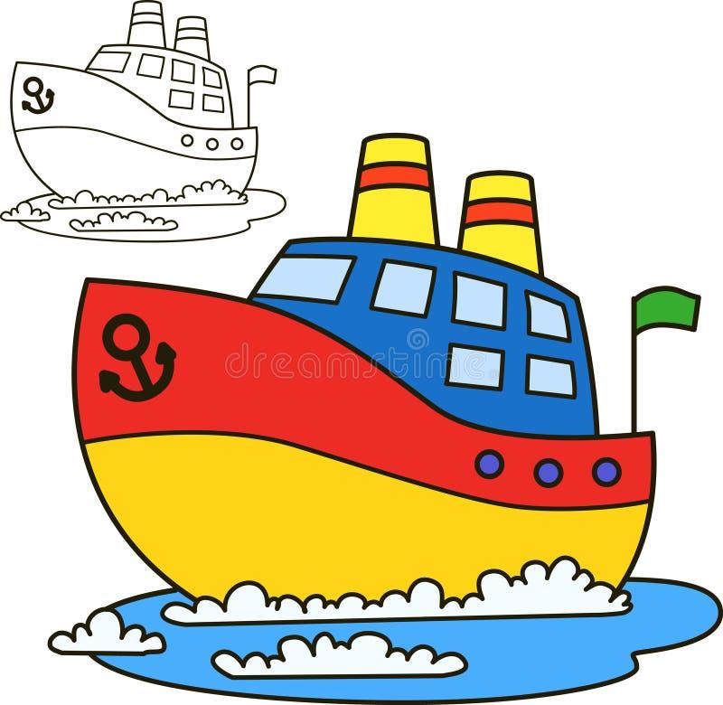 Nave del motor Página del libro de colorear libre illustration