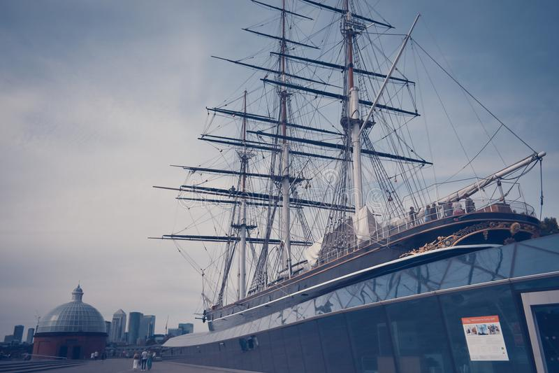 Nave del sark del Cutty en Greenwich - Londres fotografía de archivo