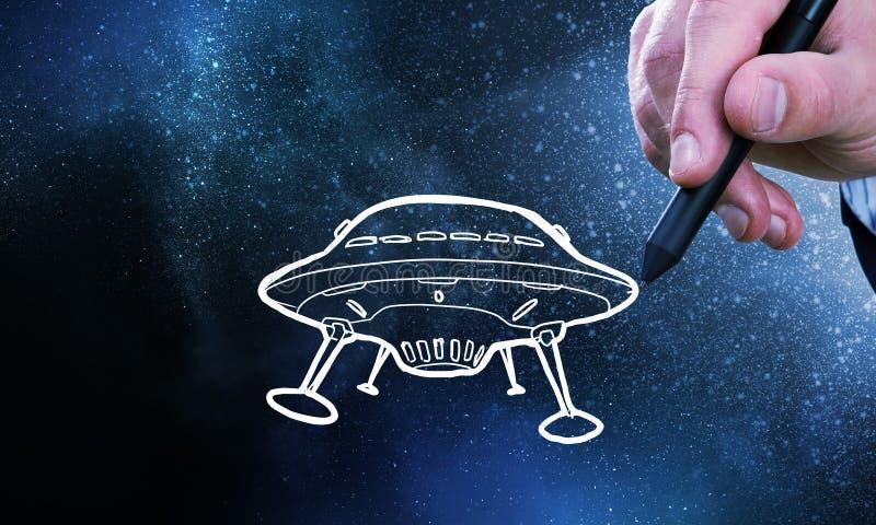 Nave del UFO fotografía de archivo