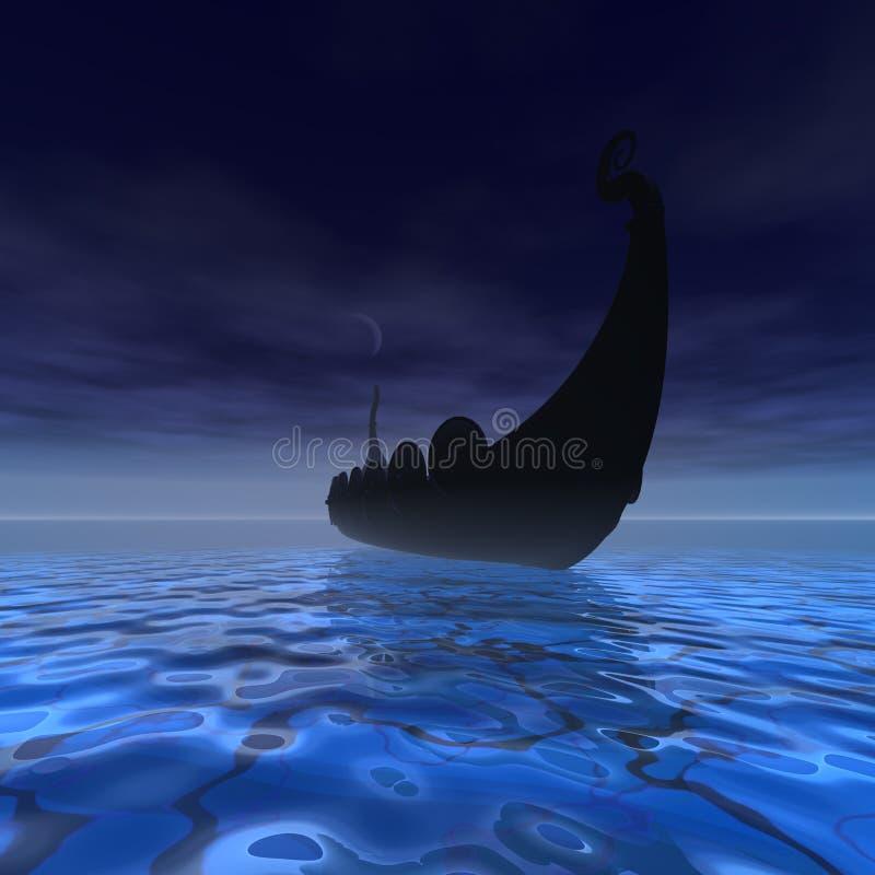 Nave del Vichingo royalty illustrazione gratis